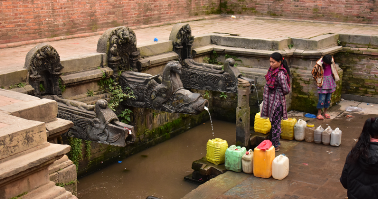 Drying Stone Spouts in the Kathmandu Valley, Nepal by Palpasa Prajapati