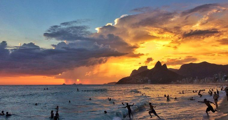 Ipanema sunset storm by Bruno Ipiranga