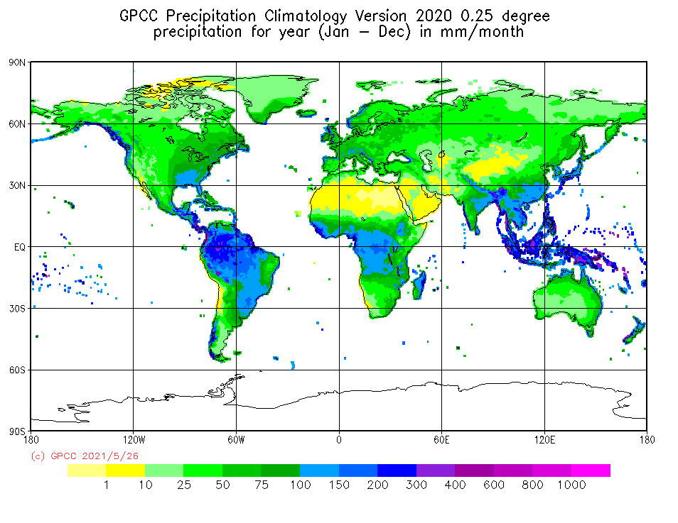 GPCC Climatology 2020