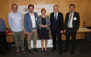 From left: Peter Thorne, Franz Berger, Martina Münch, Paul Becker, Markus Rex