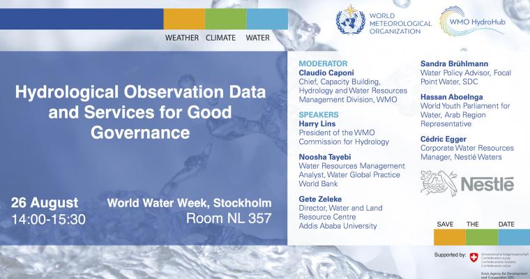 World Water Week: WMO Session